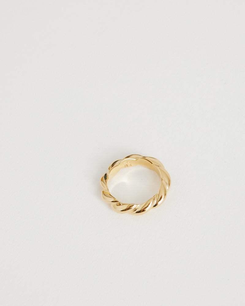 Gold Small Rope Ring in 18K Gold Vermeil