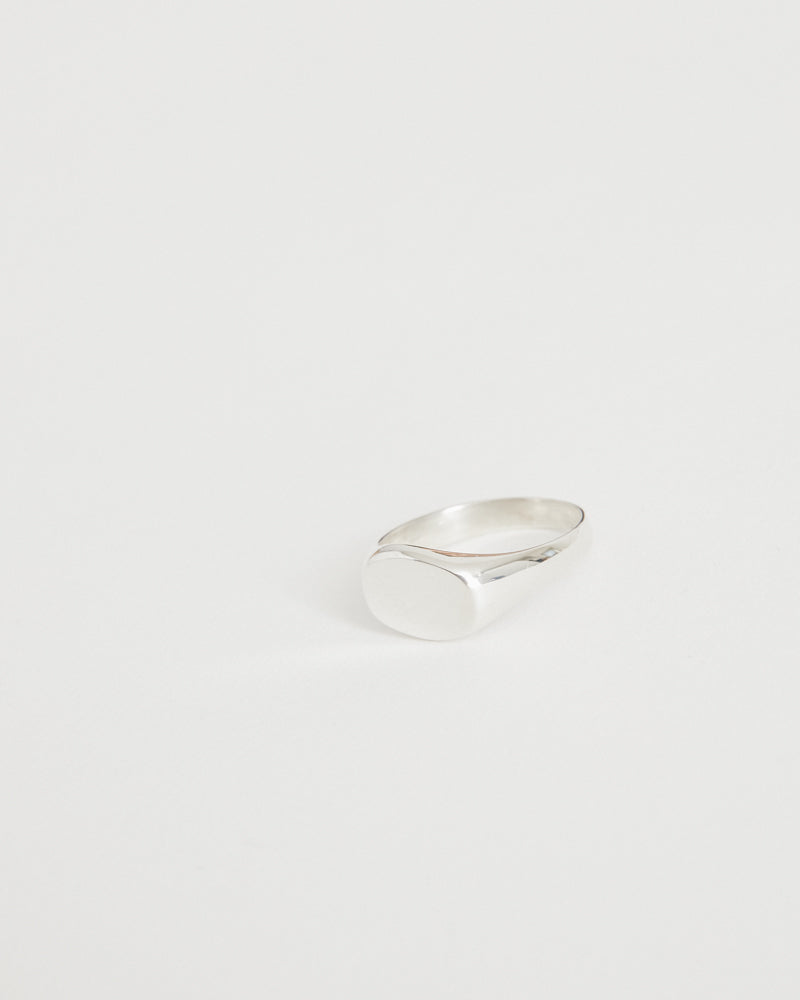 Small Irregular Signet Ring in Sterling Silver