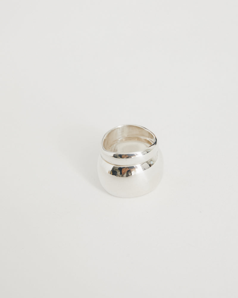 Puff Ring Set in Sterling Silver