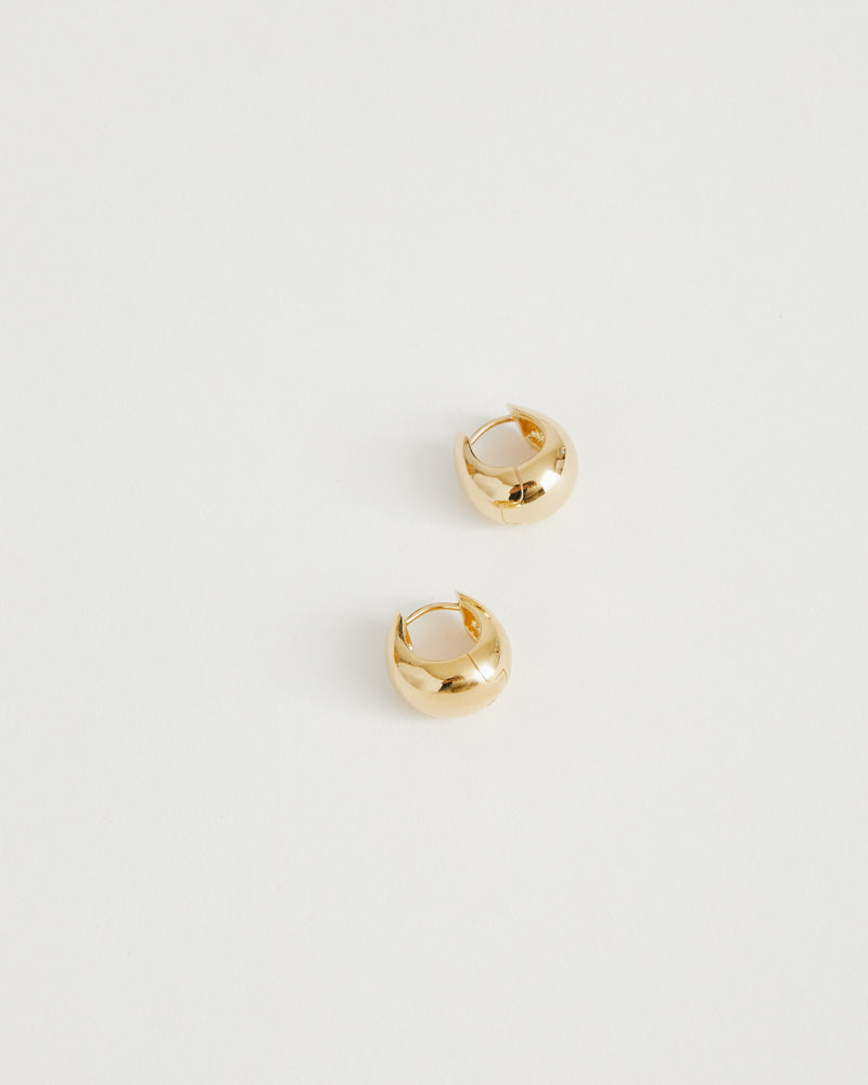Hinged Hoops in 18K Gold Vermeil