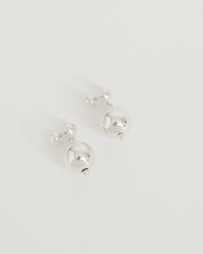 Ball Drop Earrings in Sterling Silver
