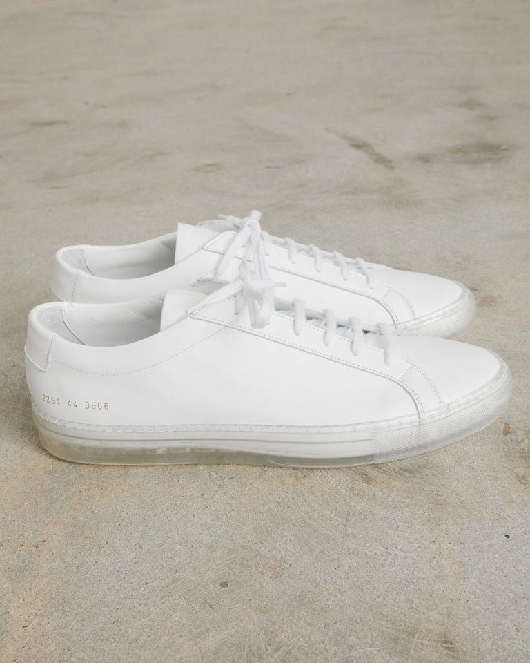 Original Achilles Low Transparent Sole in White