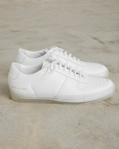 Bball Low Transparent Sole in White