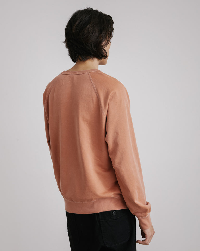 Supima Fleece Crew Sweatshirt in Sienna