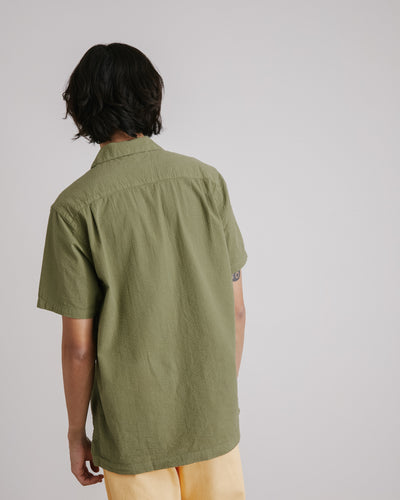 Seersucker Camp Shirt in Meadow