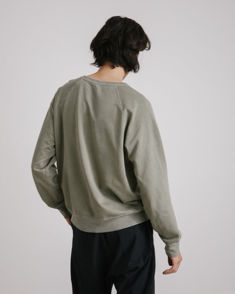Supima Fleece Crew Sweatshirt in Olive