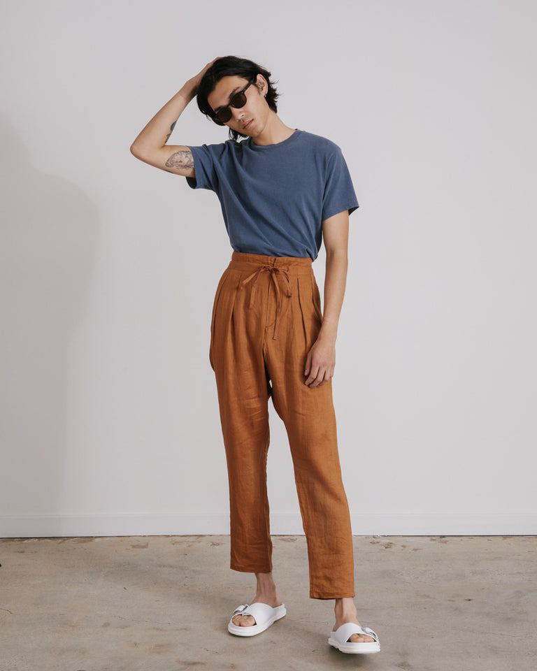 Drop Crotch Pants in Brown