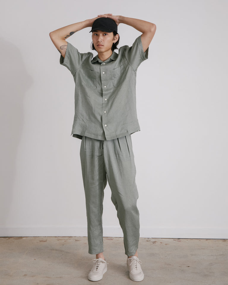 Drop Crotch Pants in Sage