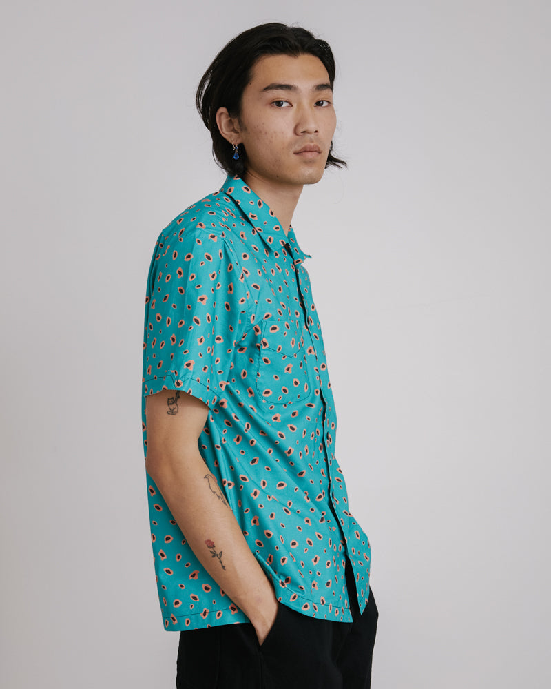 Vacation Shirt in Leopard Green