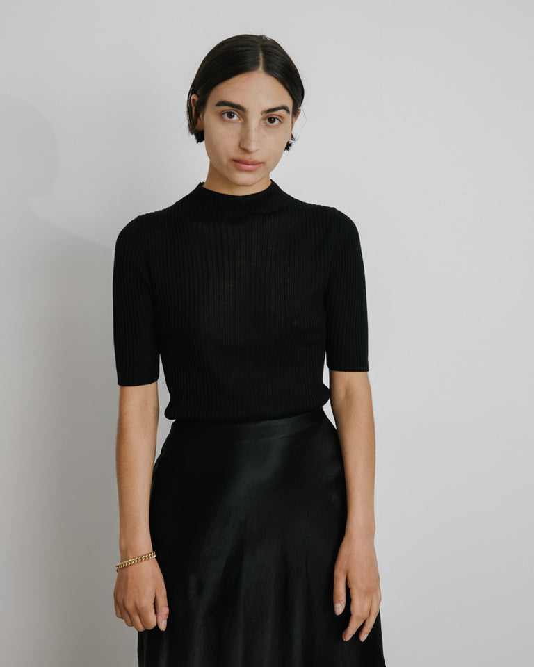 Agata Knit Top in Black