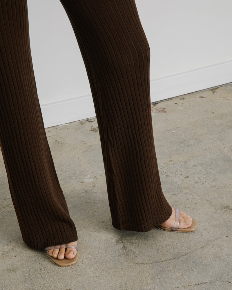 Enzo Knit Pants in Cocoa