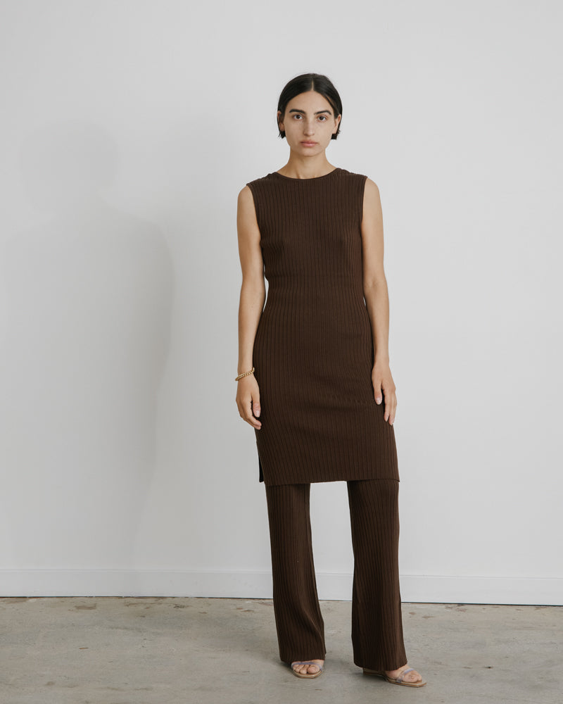 Gia Knit Dress in Cocoa