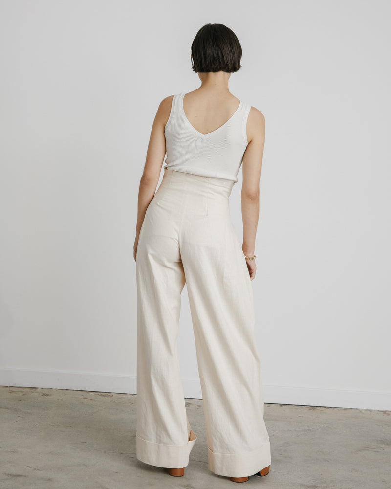 Lise Trousers in Vintage White