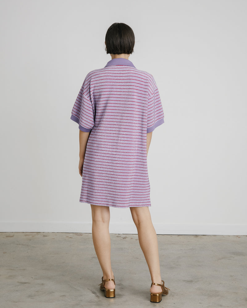 Shirt in Stripy Lilac