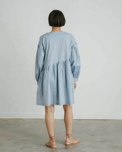Jayme Polka Dot Dress in Baby Blue