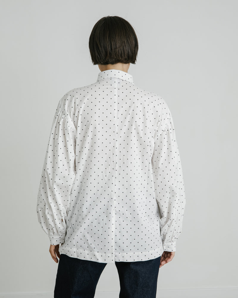 Elisa Top in Polka Dot White
