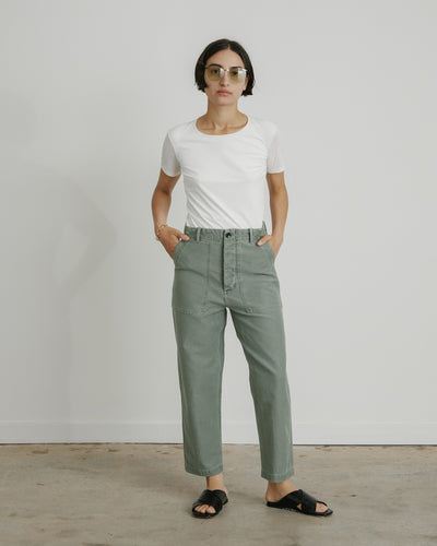 Howell Pant in Sage Twill