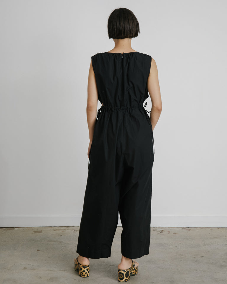 Goa Jumpsuit in Solid Poplin Black