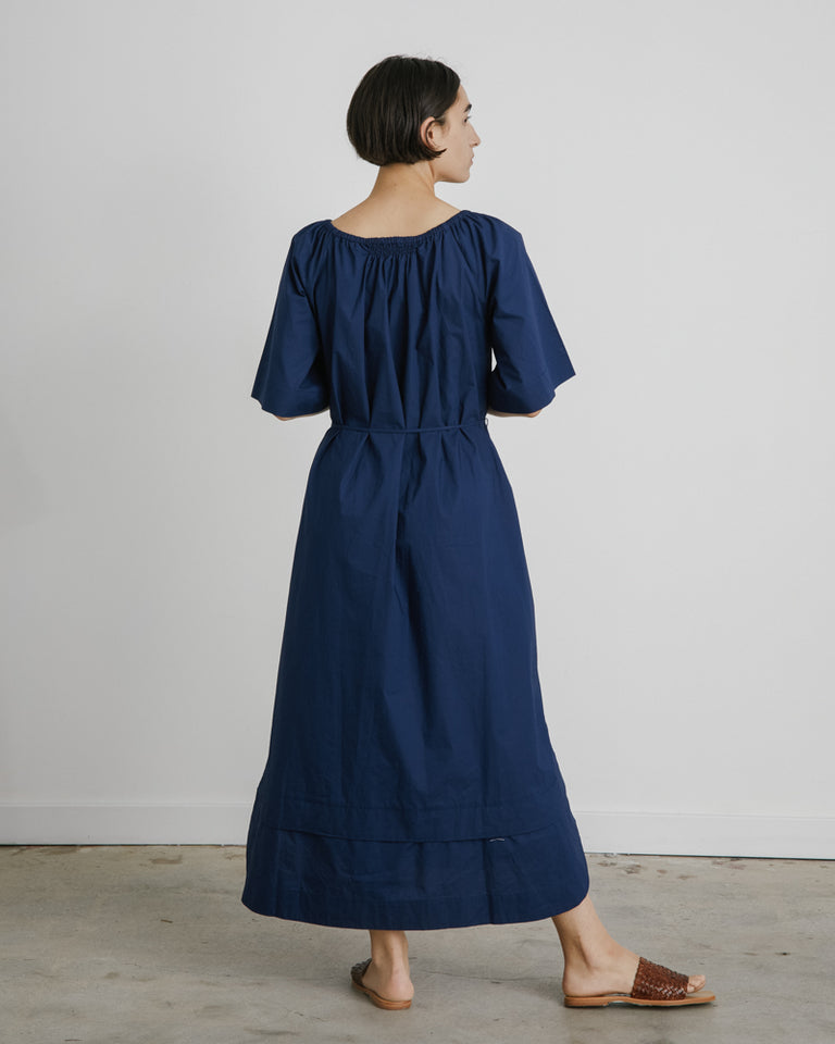 Zagare Dress in Navy