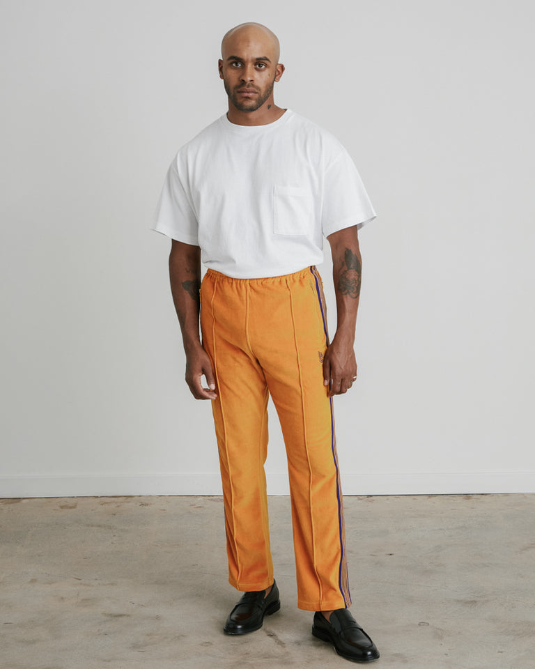 Narrow Track Pant in Mustard