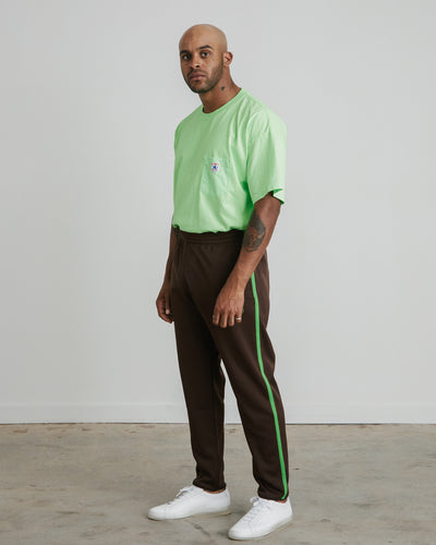 Trainer Pant in Dark Brown