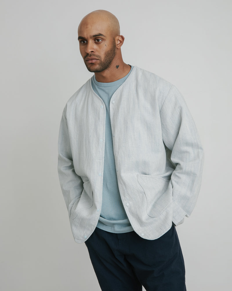 Liner Jacket in Washed Blue