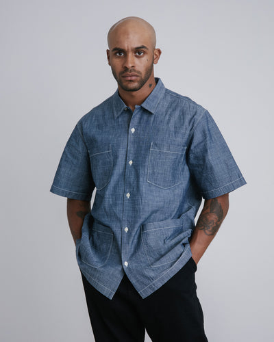 Summer Overshirt in Indigo