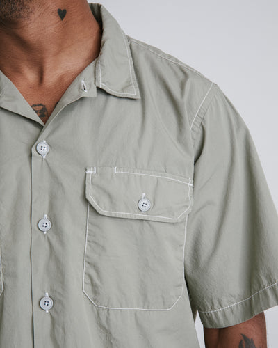 Utility Short Sleeve Shirt in Laurel