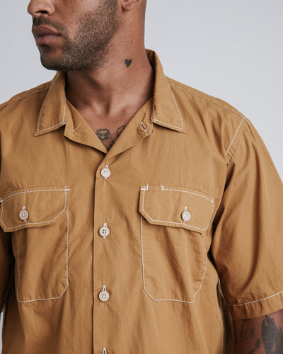 Utility Short Sleeve Shirt in Cumin
