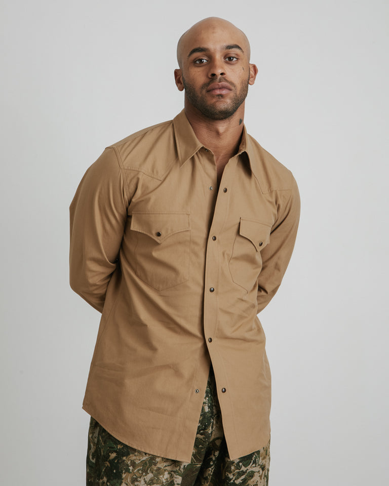 Curtain 9022 Shirt in Camel