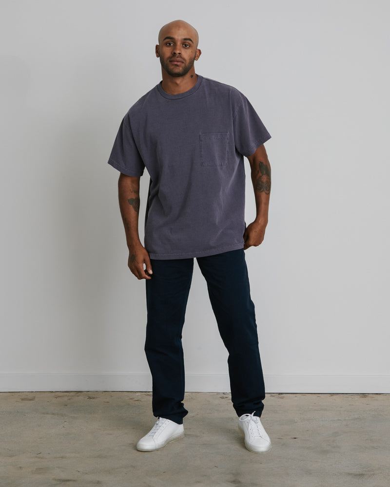 Big Pocket Tee in Moave Deep