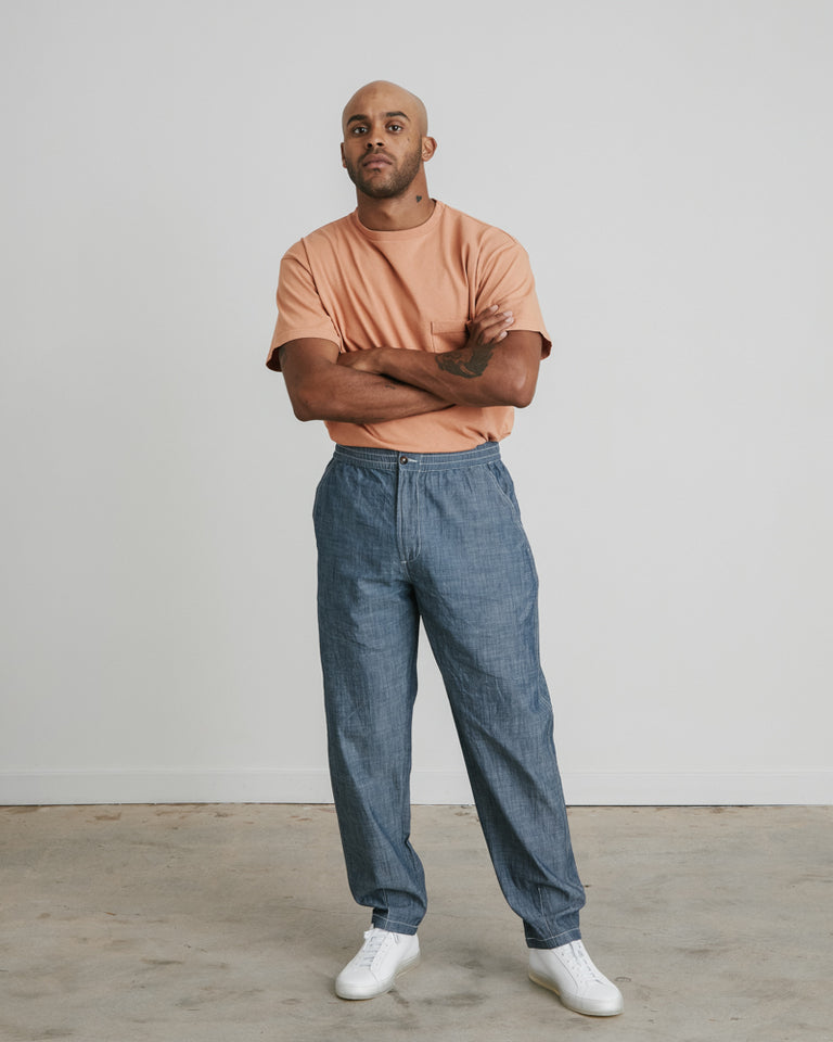 Track Trouser in Indigo