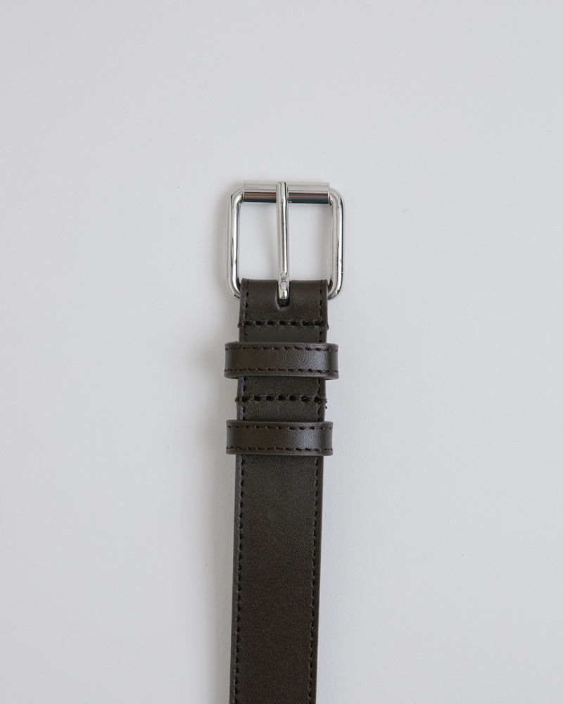 Classic Leather Belt 0912 in Brown
