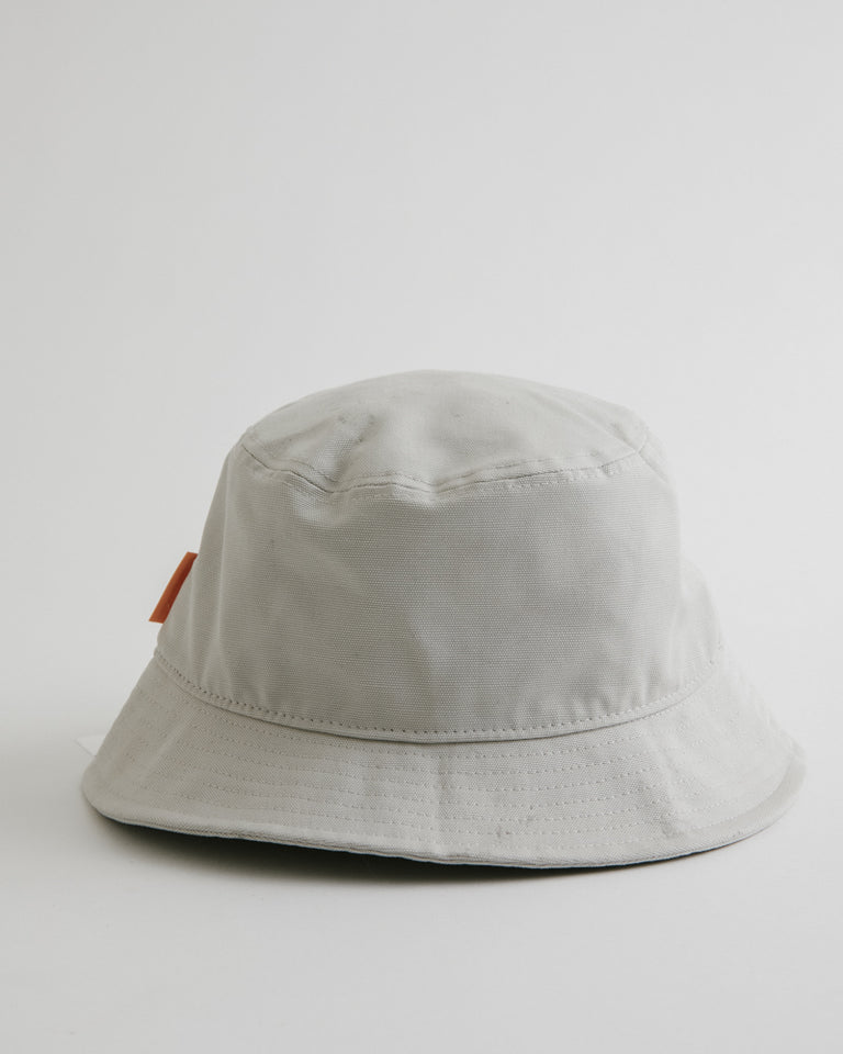 Brun Cotton Canvas Hat in Oat Beige