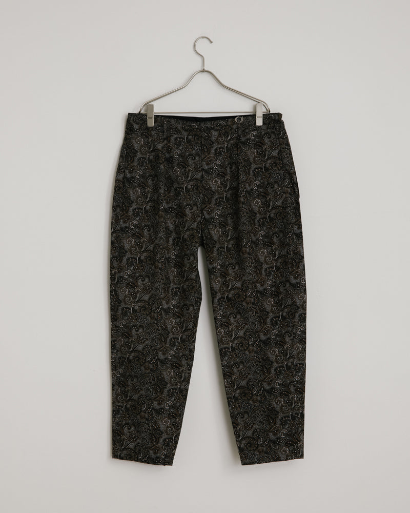 Carlyle Pant in Black Brown Paisley