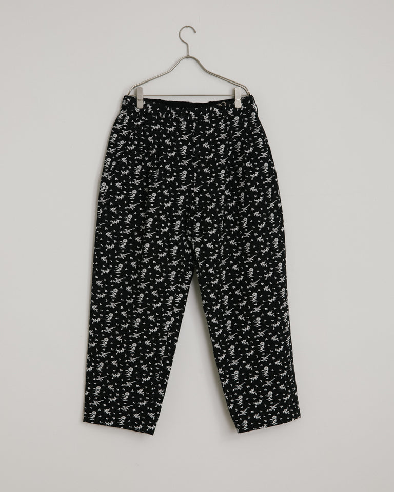 Emerson Pant in Black White Floral