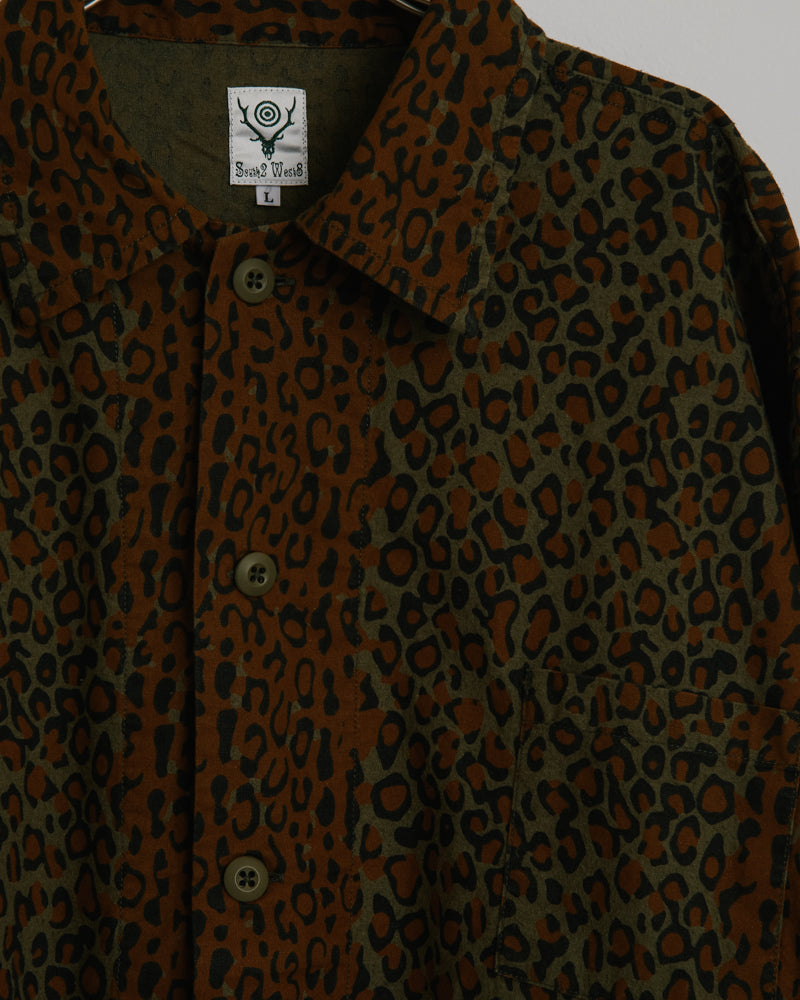 Hunting Shirt Printed Flannel in Leopard
