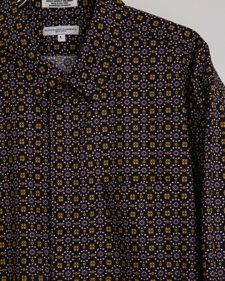 Short Collar Shirt in Navy
