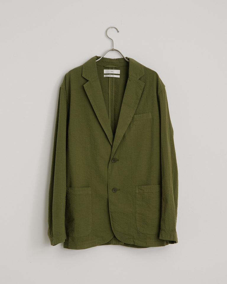 Seersucker Blazer in Meadow