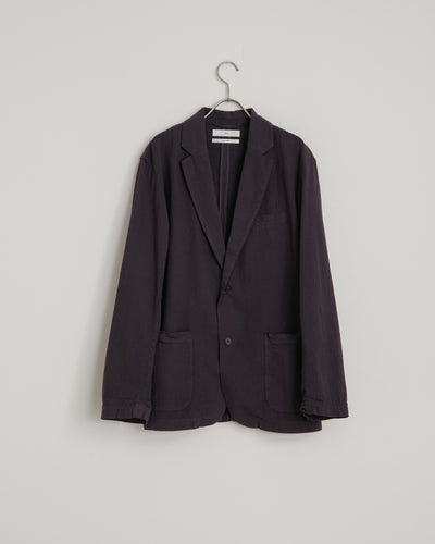 Seersucker Blazer in Moave Deep
