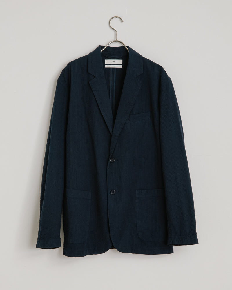 Seersucker Blazer in Navy