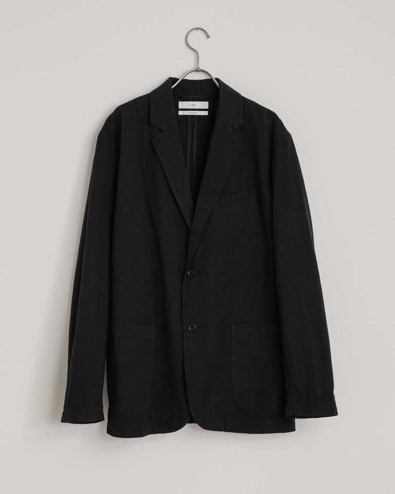 Seersucker Blazer in Black