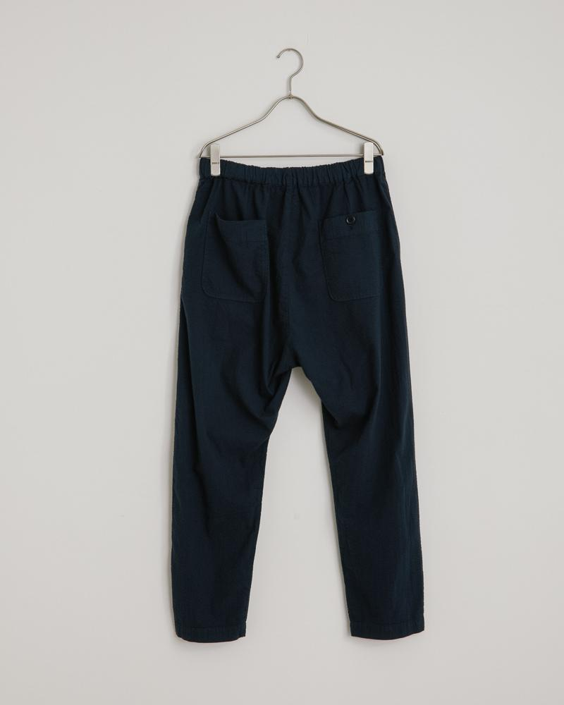 Seersucker Yoyogi Pant in Navy