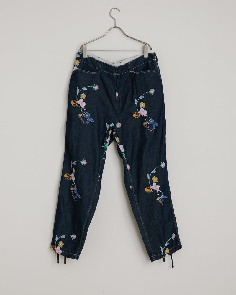 Painter Pant in Indigo Floral