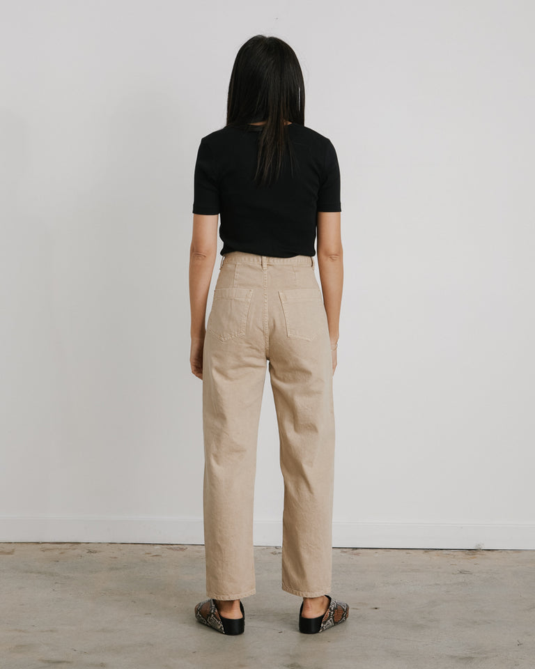 Silhouette Denim Pant in Beige