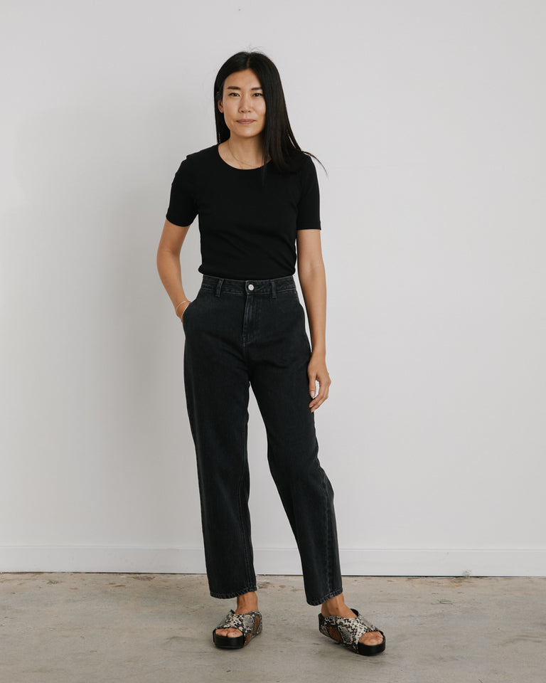 Silhouette Denim Pant in Black