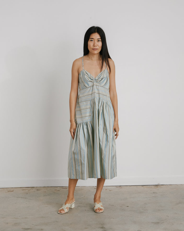 Brea Dress in Blue Stripe