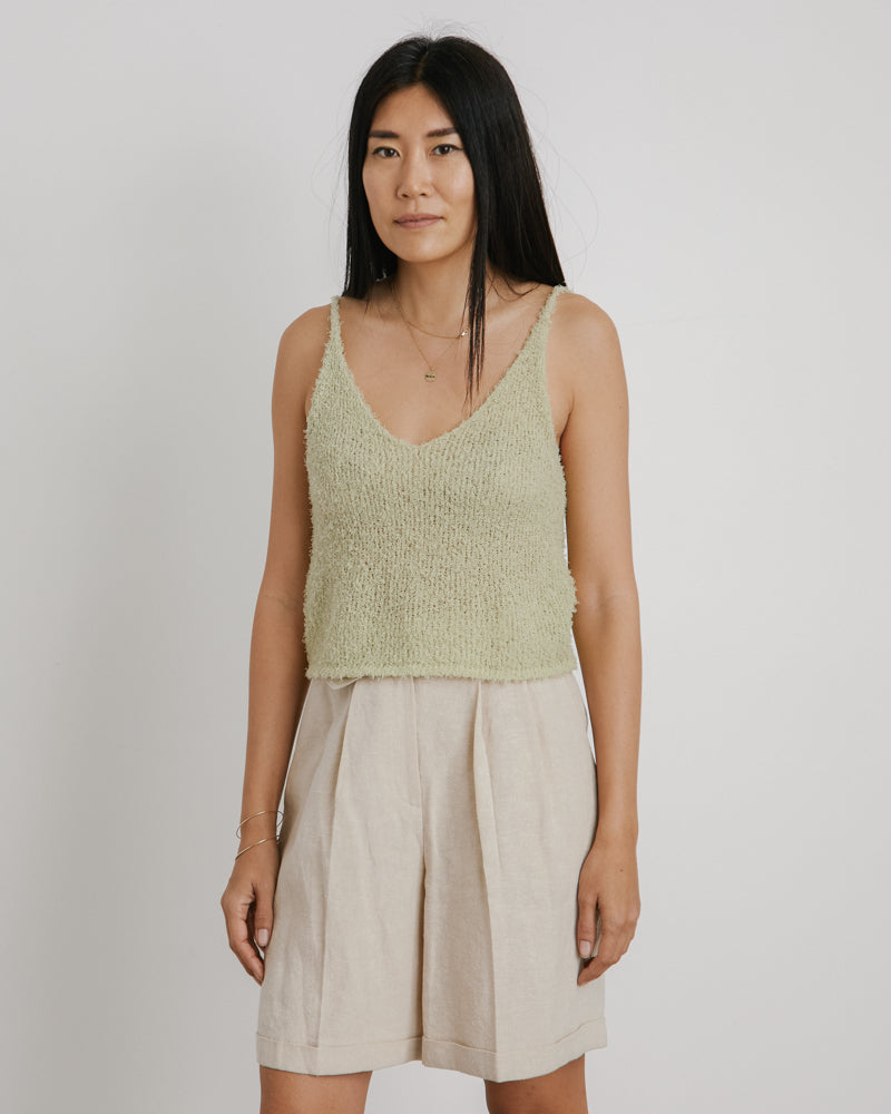 Paper Slip Knit Shirt in Lime