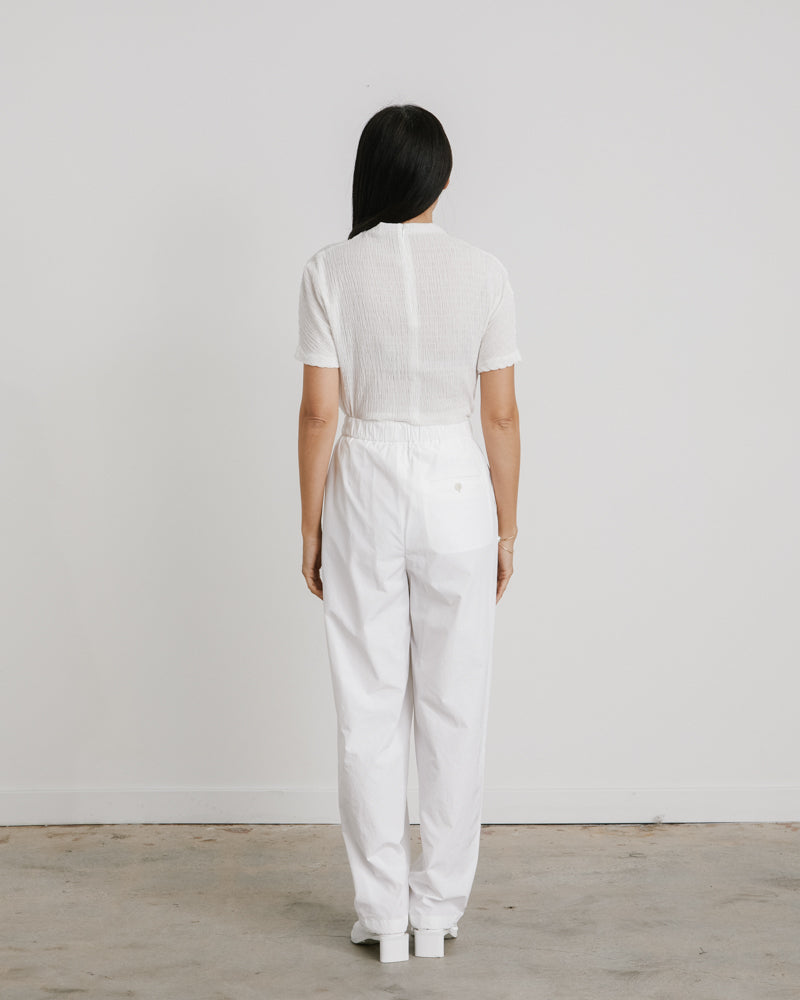 Drawstring Pants in White