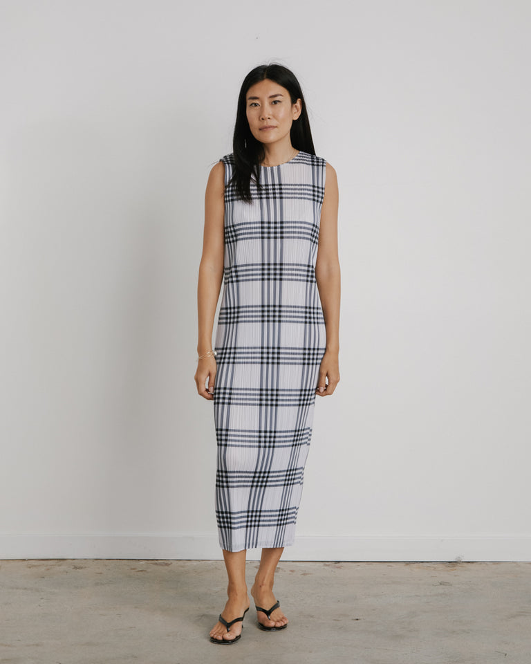 Glen Check Dress in Black/White